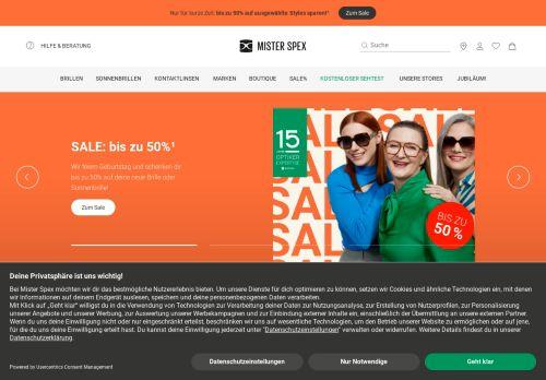 Mister Spex Website Screenshot