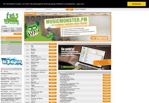 MusicMonster.FM Website Screenshot