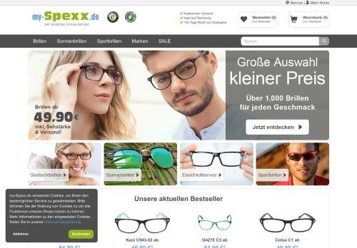 my-Spexx.de Website Screenshot