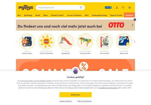 myToys Website Screenshot