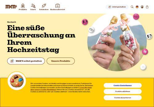 My M&M's Website Screenshot