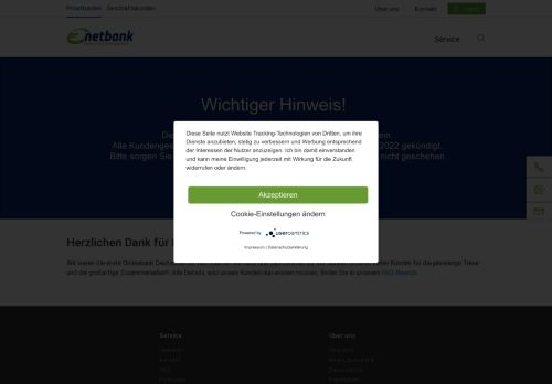 netbank Website Screenshot