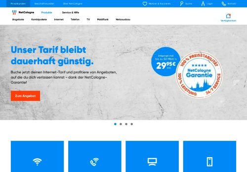 NetCologne Website Screenshot