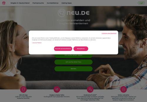 NEU.DE Website Screenshot