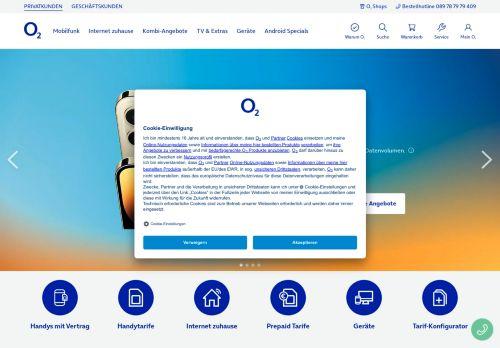 o2 Netz Website Screenshot