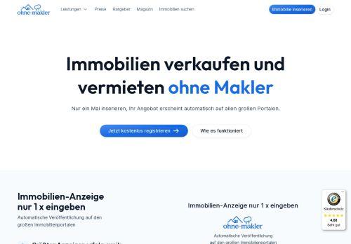 ImmobilienScout24 Website Screenshot