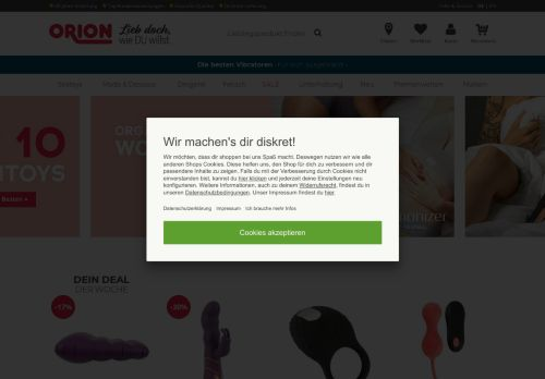 ORION Website Screenshot