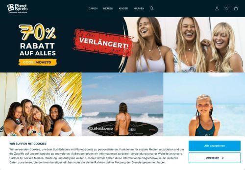 Planet Sports Website Screenshot
