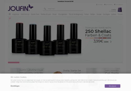 Pretty Nail Shop 24 Website Screenshot