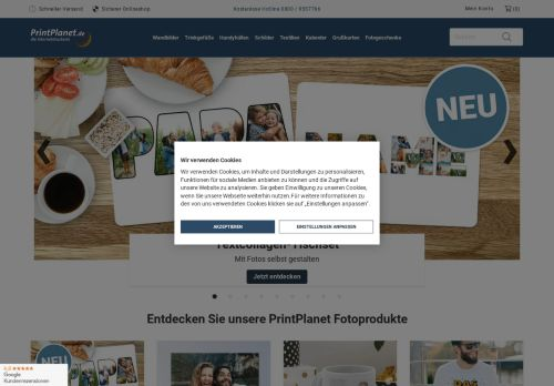 PrintPlanet Website Screenshot