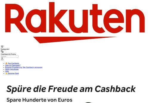 Rakuten.de Website Screenshot