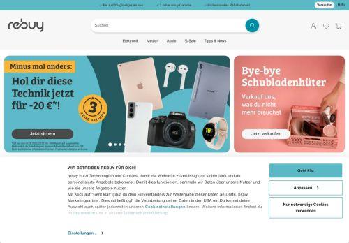 reBuy.de Website Screenshot