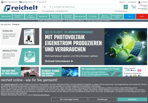reichelt Website Screenshot