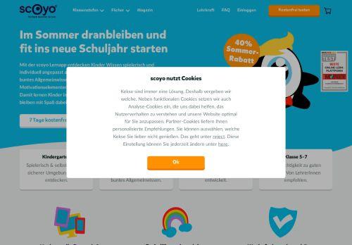 scoyo Website Screenshot