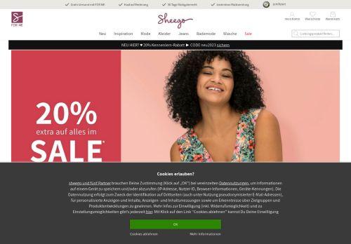 sheego Website Screenshot