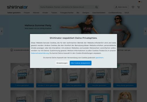 Shirtlabor Website Screenshot