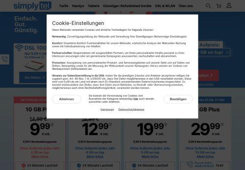 simply Website Screenshot