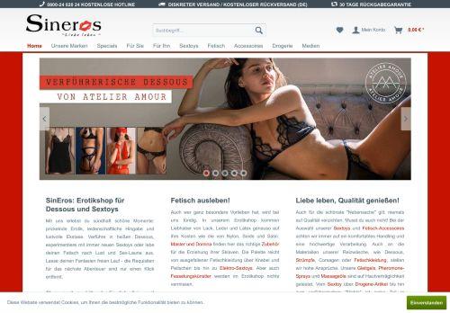 SinEros Website Screenshot