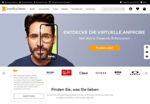SmartBuyGlasses Website Screenshot