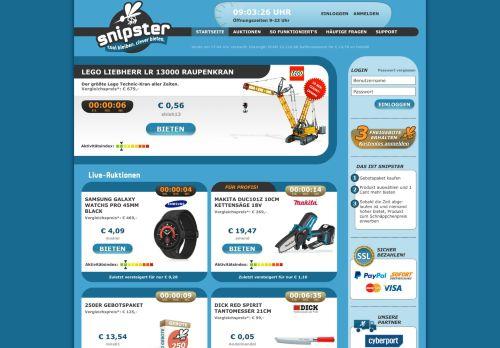 snipster Website Screenshot