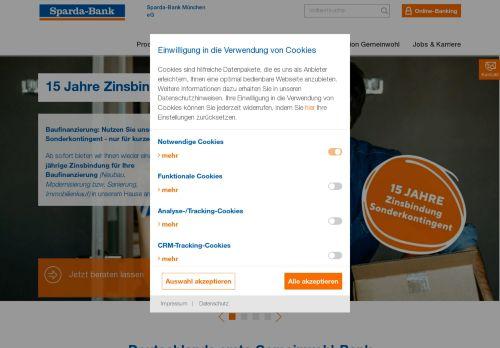 Sparda-Bank Website Screenshot