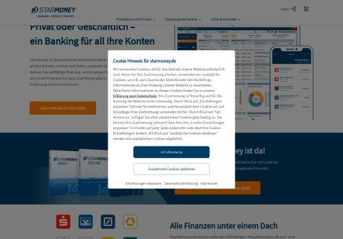 StarMoney Website Screenshot