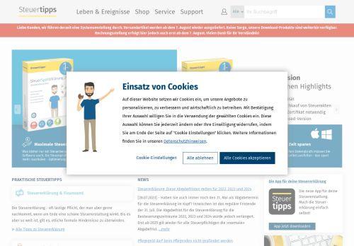 Steuertipps.de Website Screenshot