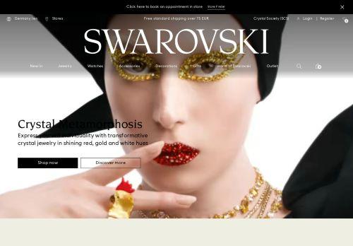 Swarovski Website Screenshot