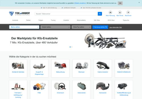 TEILeHABER.de Website Screenshot