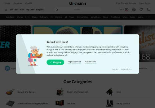 Thomann Website Screenshot