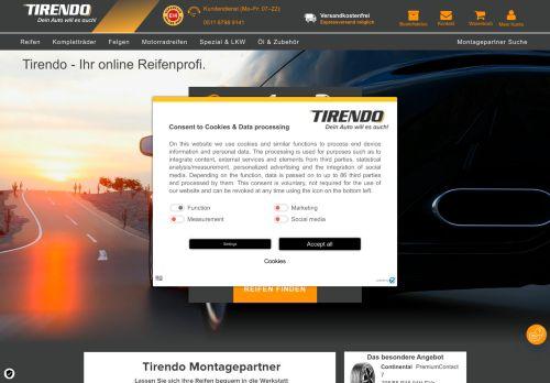 tirendo.de Website Screenshot