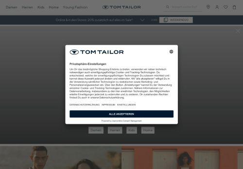 TOM TAILOR Website Screenshot