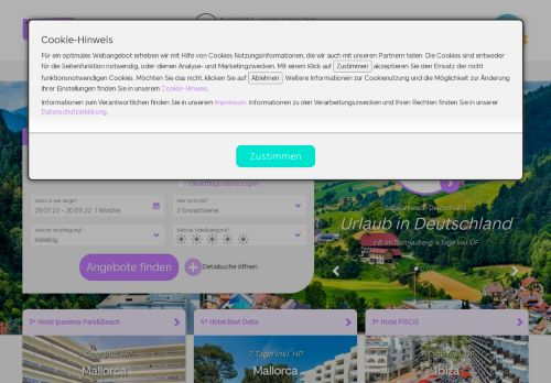 TravelScout24 Website Screenshot