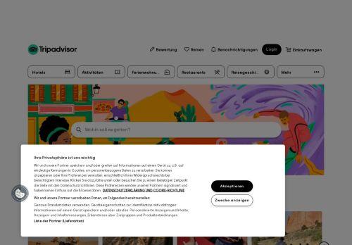 TripAdvisor Website Screenshot