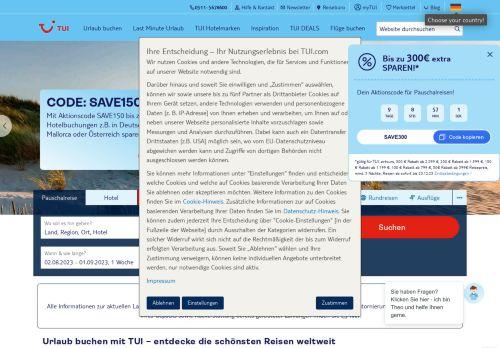 TUI.com Website Screenshot