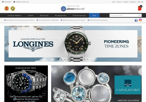 uhrendirect.de Website Screenshot