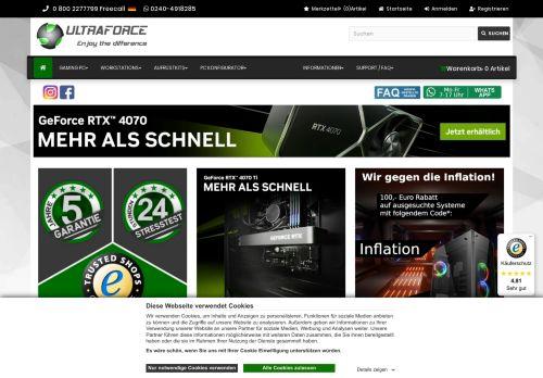 ULTRAFORCE Website Screenshot