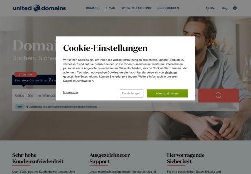 united-domains Website Screenshot