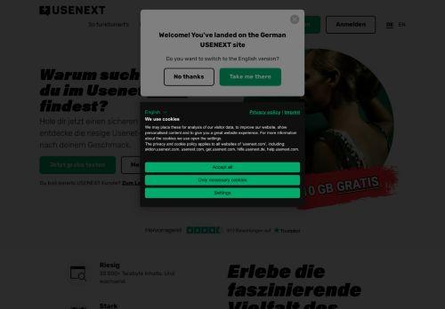 Usenet Website Screenshot