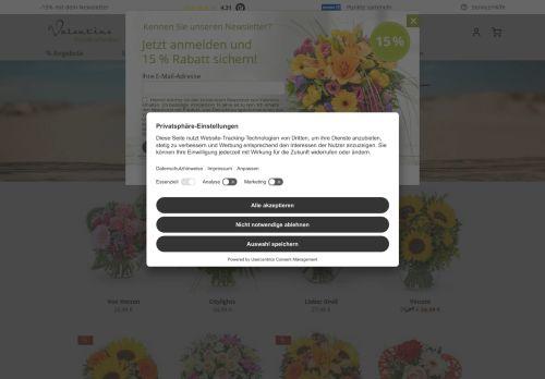 Valentins Website Screenshot