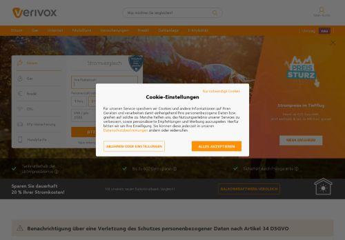 Vodafone.de Website Screenshot