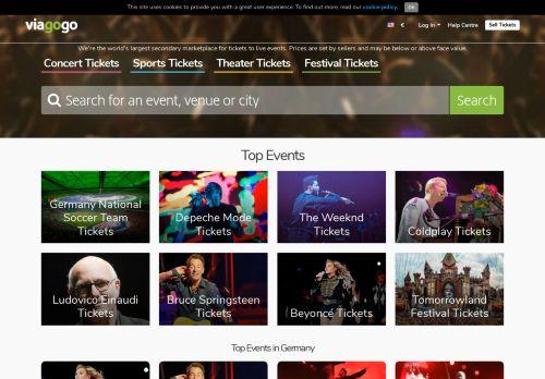 viagogo Website Screenshot