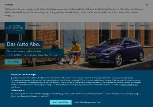 BMW Bank Website Screenshot