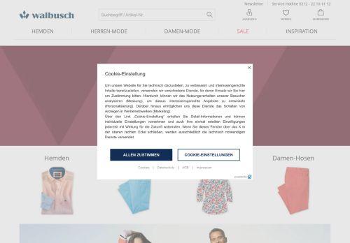 Walbusch Website Screenshot