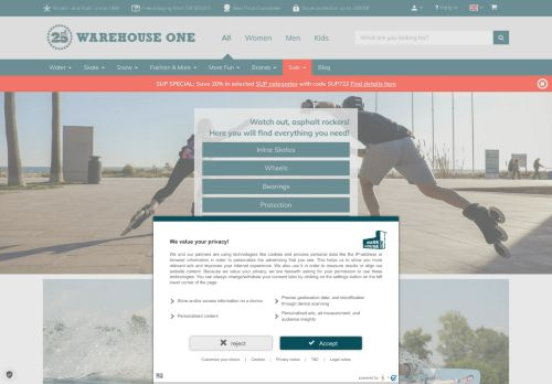 Warehouse One Website Screenshot
