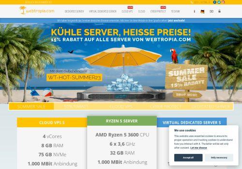 webtropia Website Screenshot