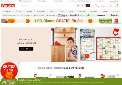 Weltbild.de Website Screenshot