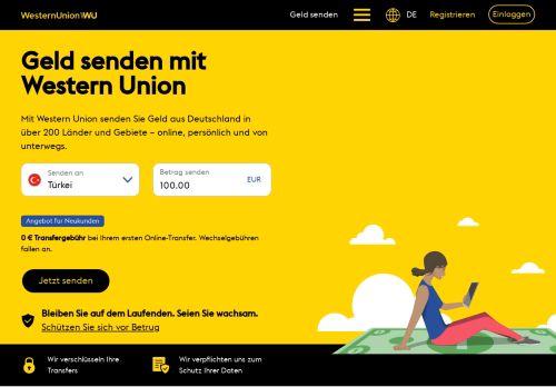 Western Union Website Screenshot