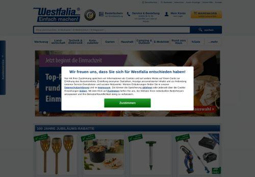 Westfalia Website Screenshot
