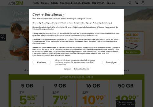 winSIM Website Screenshot